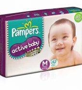 Pampers Active Baby Tape Medium Diaper 62 Pcs