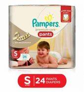 Pampers Premium Care Pant Diaper Small 24 Pcs