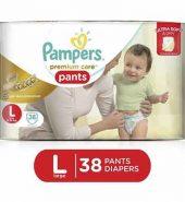 Pampers Premium Care Pant Large Diaper 38 Pcs