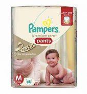 Pampers Premium Care Medium Size Diaper Pants 68 Pcs