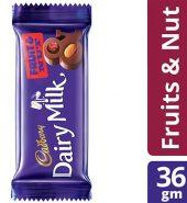 Cadbury  Fruit And Nut Chocolate Bar 36G