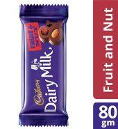 Cadbury  Fruit And Nut Chocolate Bar 80G
