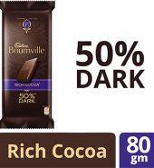 Cadbury Bournville 50% Cocoa Dark Chocolate Bar 80G
