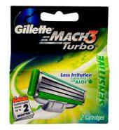 Gillette Mach3 Turbo Sensitive Cartridges 2 Pcs