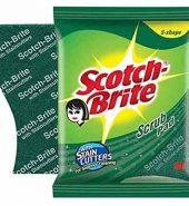 Scotch-Brite Antibacterial Scrub Pad Scrub Pad (2.75X4 Cm) 3 Pcs