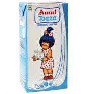 Amul Taaza Toned Milk Tetra Pack 1Ltr