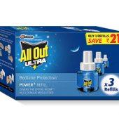 All Out Ultra Liquid Vaporizer Refill 3X45 Nights