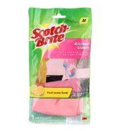 Scotch-Brite Light Duty Gloves Pink (M) 1 Pc
