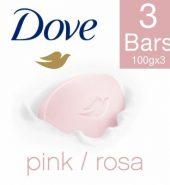 Dove Pink Rosa Beauty Bathing Bar 3X100 Gm