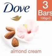 Dove Almond Cream Beauty Bathing Bar 3X100 Gm
