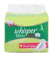 Whisper Ultra Clean Xl Wings Sanitary Pads 7 Pcs