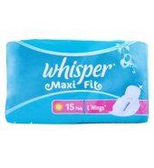 Whisper Maxi Fit Sanitary Pads Xl Wings 15 Pcs