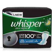 Whisper Maxi Ultra Night Sanitary Pads Xxl Wings 5 Pcs
