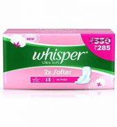 Whisper Ultra Soft Sanitary Pads Xl Wings 30 Pcs