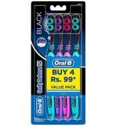 Oral B Cavity Defense Black Toothbrush Medium Pack Of 4