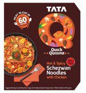 Tata Q Heat To Eat Hot & Spicy Schezwan Noodles With Chicken  305Gm